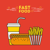 Fast food illustration Stock Photos