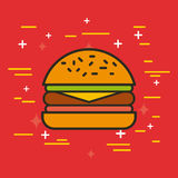 Fast food illustration Royalty Free Stock Photos