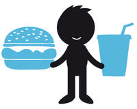 Fast food. Infographic people - with fast food Stock Photos