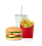 Fast food isolated on white Royalty Free Stock Photography
