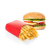 Fast food isolated on white Stock Images