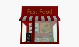 Fast food isolato su bianco Fotografia Stock Libera da Diritti
