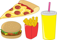 Fast Food Items Royalty Free Stock Photo