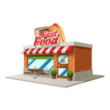 Fast food kawiarnia Zdjęcia Royalty Free