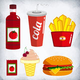 Fast food kit. Royalty Free Stock Photos