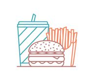 Fast Food Line Icon Stock Photography