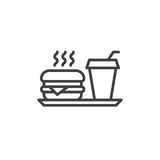 Fast food line icon, outline vector sign. Linear style pictogram isolated on white. Symbol, logo illustration. Editable stroke. Pixel perfect vector graphics stock illustration
