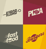 Fast food logo design concepts stock illustration