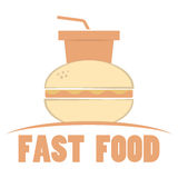 Fast food logo Royalty Free Stock Photography