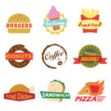 Fast food logo Stock Photography