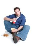 Fast Food Man Royalty Free Stock Images