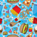 Fast Food Many Can Eat Seamless Pattern_eps Royalty Free Stock Photos
