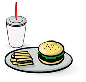 Fast food meal Stock Photography