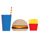Fast Food Meal royalty free illustration