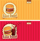 Fast-food menu Stock Images