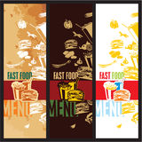 Fast food menu. Vector retro, modern and vintage style Stock Image