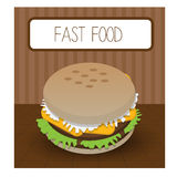 Fast food menu or brochure Royalty Free Stock Photography