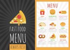 Fast food menu Stock Image