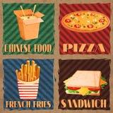 Fast food menu cards Stock Images