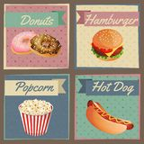 Fast food menu cards Stock Photography