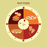 Fast Food . Royalty Free Stock Photo