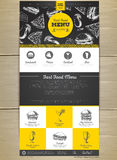 Fast food menu concept Web site design. Royalty Free Stock Photography