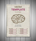 Fast food menu design template hand drawn vector Stock Images