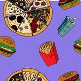 Fast food menu Stock Photos