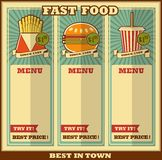 Fast food menu. Stock Photography