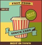 Fast food menu. Hot Drink. Stock Photos