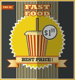 Fast food menu. Hot Drink. Stock Photo