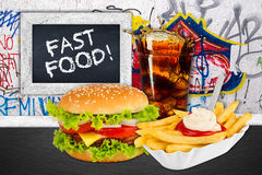 Fast food menu Royalty Free Stock Photography