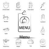 fast food menu outline icon. Set of food illustration icon. Signs and symbols can be used for web, logo, mobile app, UI, UX on