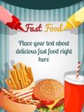 Fast food menu poster vector illustration