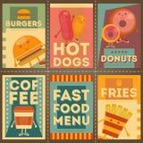 Fast Food Menu Royalty Free Stock Images