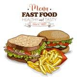 Fast food menu Stock Images