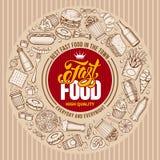 Fast Food Menu Template Stock Photo