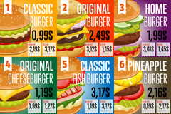 Fast food menu template. Royalty Free Stock Photos