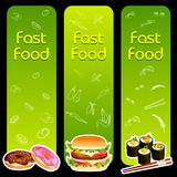 Fast Food Menu Template Stock Image