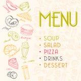Fast Food Menu. Vector Illustartion Stock Image