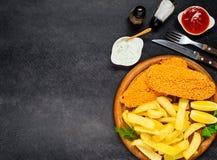 Fast Food na kopii przestrzeni fotografia stock