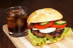 Fast food na tabela Fotografia de Stock