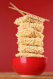 Fast food noodles in a bowl Stock Photos