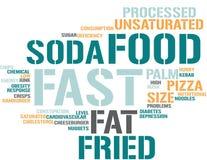 Fast food - nuvem da palavra ilustração stock