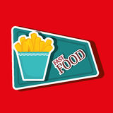 Fast food offer design Royalty Free Stock Photography