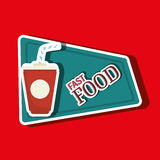 Fast food offer design Stock Photos
