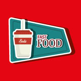 Fast food offer design Stock Photo