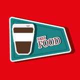 Fast food offer design Royalty Free Stock Image