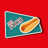 Fast food offer design Royalty Free Stock Photo