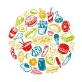 Fast Food, okrąg Zdjęcie Royalty Free